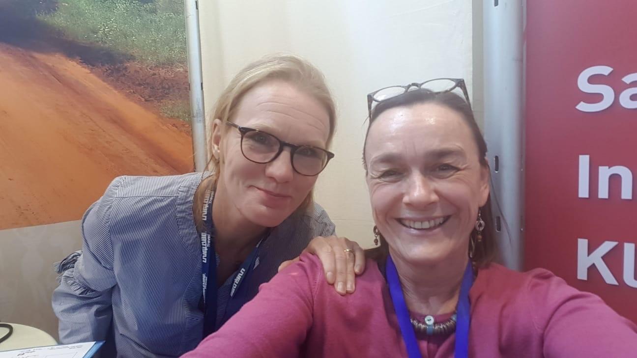 Sandra Tropp, Sylvia WEimar auf der ITB