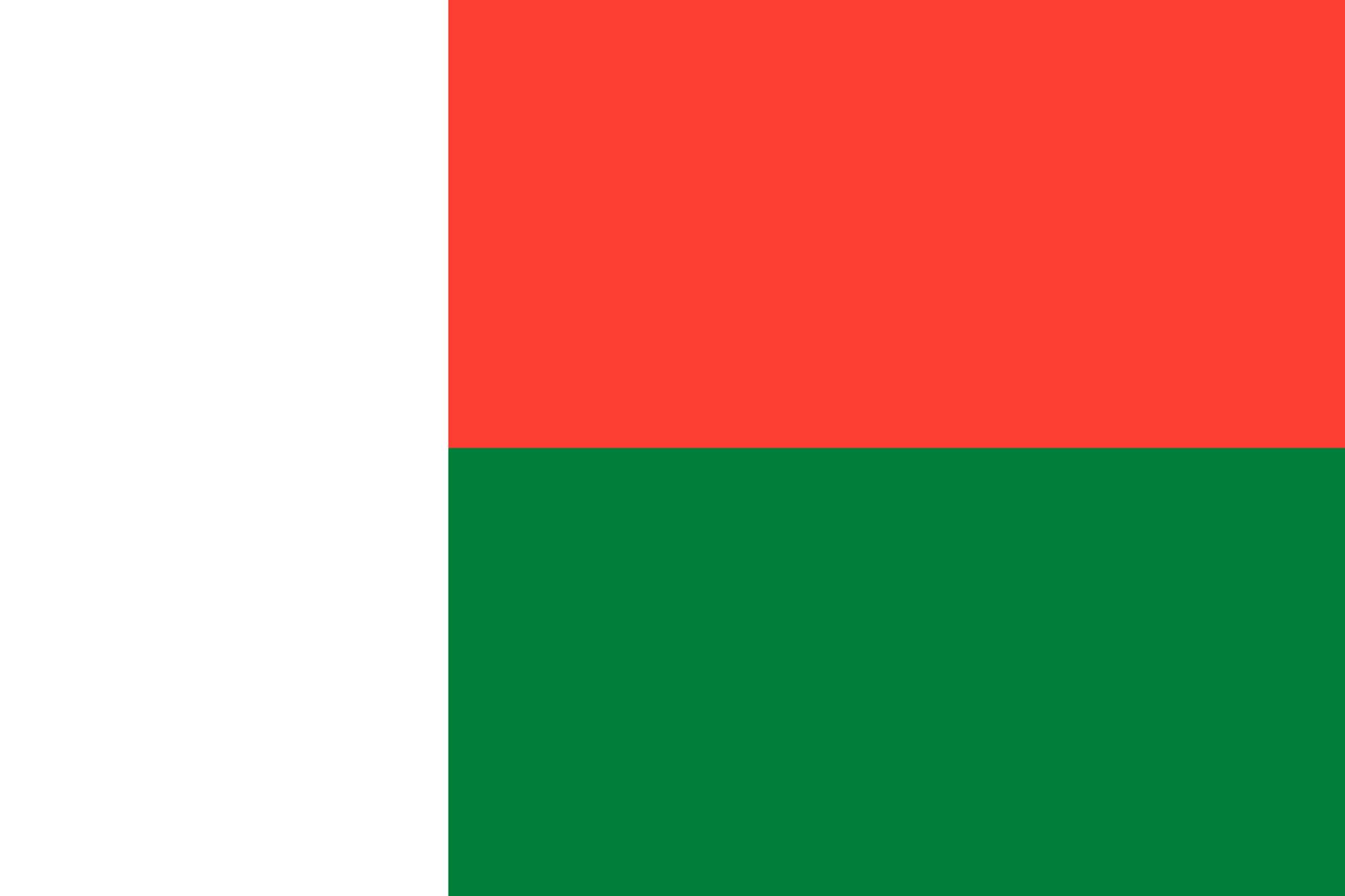 Madagaskar Flagge