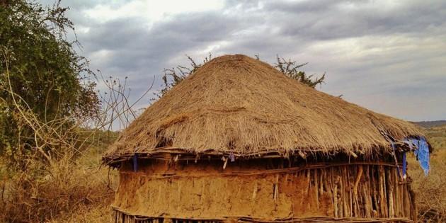 Traditionelle Bauten in Tansania