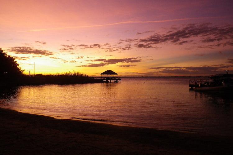 Sonnenuntergang am Malawisee