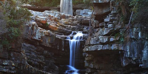 Wasserfall bei den Drakensbergen