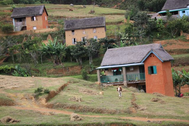 Dorf im Hochland von Madagaskar