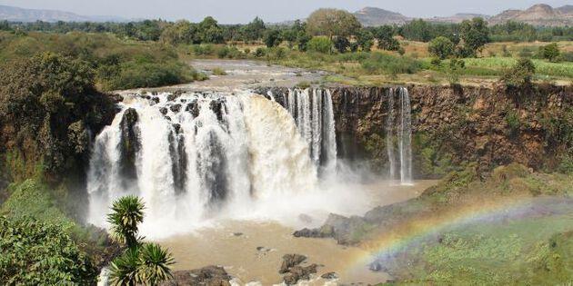 Blauner Nil, Wasserfall bei Bahir Dar