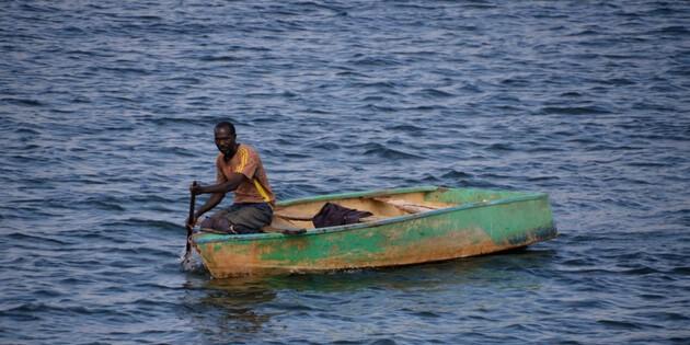 Fischerboot in Simbabwe