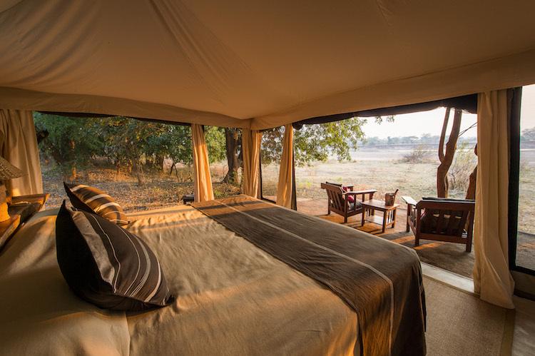 Doppelbett in Malawi