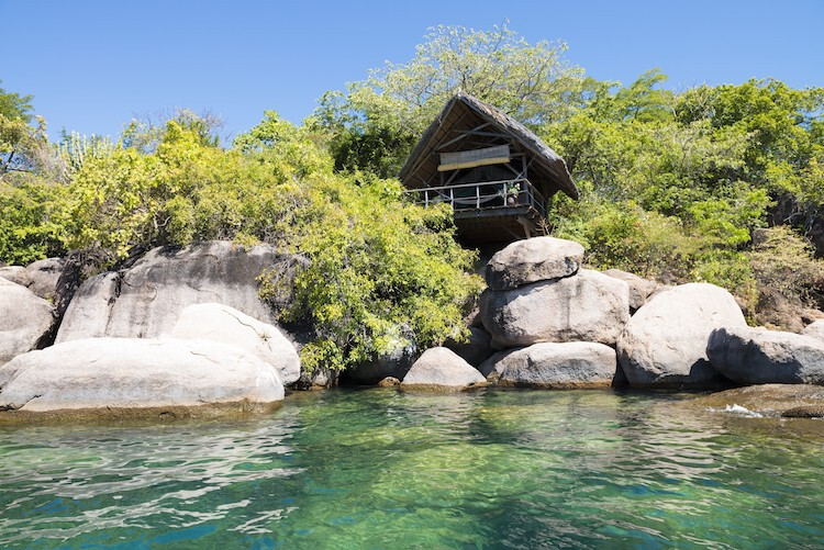 Lodge in Malawi am Malawisee