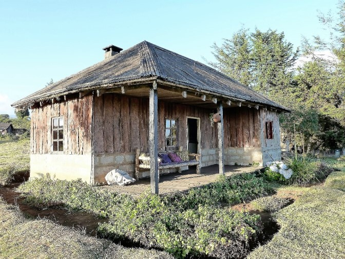 Traditionelle Unterkunft in Kenia