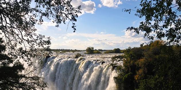 Viktoriafälle in Sambia Simbabwe