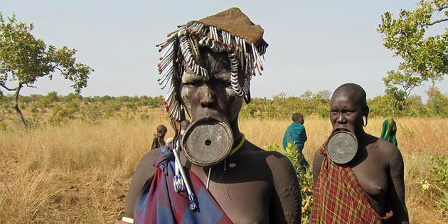 Ethnie der Mursi Afrika