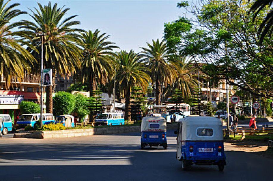 Straße von Bahir Dar in Äthiopien Afrika