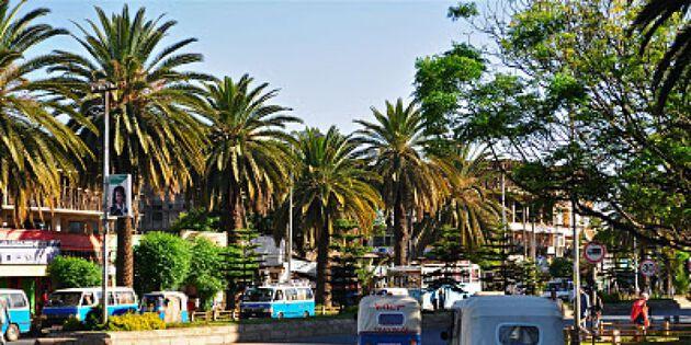 Straße von Bahir Dar in Äthiopien
