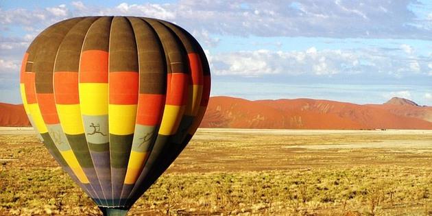 Heißluftballonfahrt in Namibia
