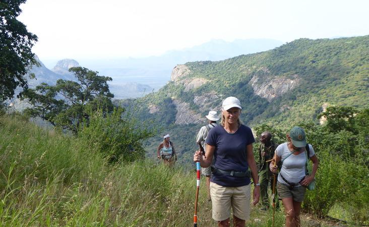 Wandergruppe in Kenia